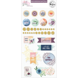 Pinkfresh Studio Just A Little Lovely Mixed Embellishment Pack 39/Pkg