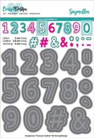 Carlijn Design Snijmallen Outline Cijfers
