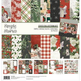 """Simple Stories Collection Kit 12""""X12"""" Simple Vintage Rustic Christmas"""