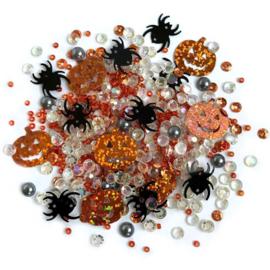 Buttons Galore Sparkletz Embellishment Pack 10g Creepy Halloween