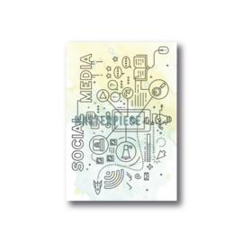 MP Design – 3×4 Clearstamp – Social Media