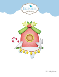 Elizabeth Craft Designs Holiday Bird House 1686