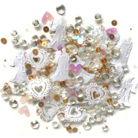 Buttons Galore Sparkletz Embellishment Pack 10g Just Married