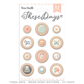 Cocoa Vanilla CV-TD019 THESE DAYS – WOOD EPOXY BUTTONS preorder