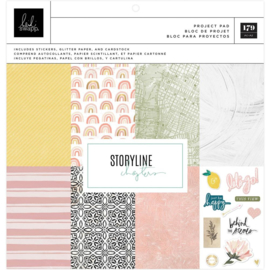 "Heidi Swapp Storyline Chapters Project Pad 12""X12"" 179 Pieces"