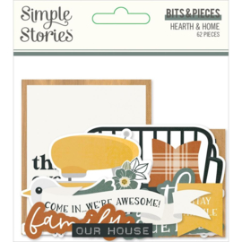 Simple Stories Hearth & Home Bits & Pieces Die-Cuts 62/Pkg preorder