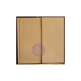 "Prima Memory Hardware Chipboard Album 6.5""X6.25"" Kraft Magnetic W/8 Pages"