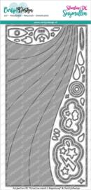 CarlijnDesign Snijmallen Slimline Kaart 5 Regenboog