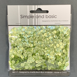 Simple and Basic Spring Green Sequin Mix (SBS117)