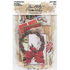 Tim Holtz Idea-Ology Ephemera Pack 51/Pkg Christmas