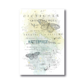 MP Design Clearstamps 4×6″ – Butterfly Grid Background