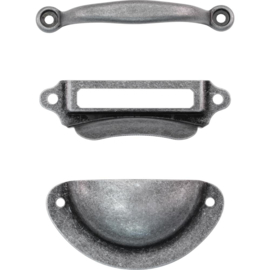 "Tim Holtz Idea-Ology Mini Metal Hardware Pulls 3/Pkg Up To 2.25"""