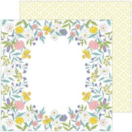 "PinkFresh Happy Blooms Double-Sided Cardstock 12""X12"" Hierloom Preorder"