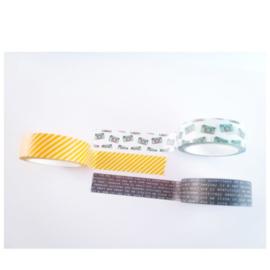 MP Design – Washi tape – donkerblauw tekst