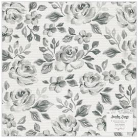 "Maggie Holmes Garden Party Specialty Paper 12""X12"" Vellum Rose Bush"