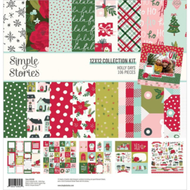 """Simple Stories Collection Kit 12""""X12"""" Holly Days"""
