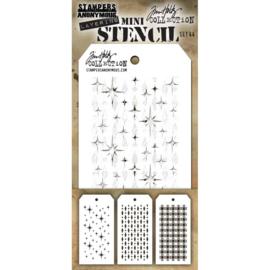 Tim Holtz Mini Layered Stencil Set 3/Pkg Set #44