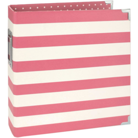 "Simple Stories Sn@p! Designer Binder 6""X8"" Pink Stripe"