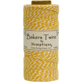 Hemptique Cotton Baker's Twine Spool 2-Ply 410' Yellow