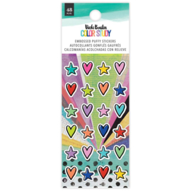 Vicki Boutin Color Study Embossed Puffy Stickers 48/Pkg