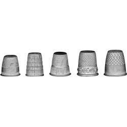 Tim Holtz Idea-Ology Metal Thimbles 5/Pkg Mixed Sizes