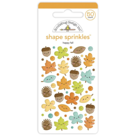 Doodlebug Sprinkles Adhesive Enamel Shapes Happy Fall preorder