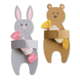Sizzix Thinlits Die set - 5PK Bunny & Bear Hugs 663452 Samantha Barnett