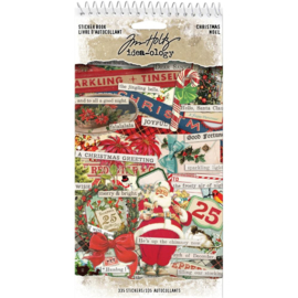"Tim Holtz Idea-Ology Sticker Book 4.5""X8.75"" Christmas, 335/Pkg"