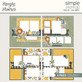 Simple Stories Simple Pages Page Kit Live Simply, Hearth & Home preorder