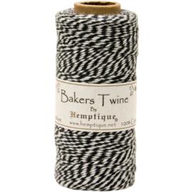 Hemptique Cotton Baker's Twine Spool 2-Ply 410' Black