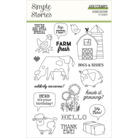 Simple Stories Homegrown Photopolymer Clear Stamps