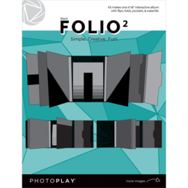 "Photoplay Folio 6""X8"" Black"