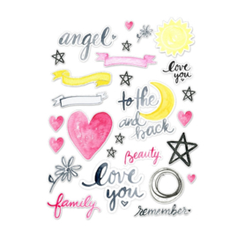 Pretty Little Studio Die-Cuts | To the Moon and back