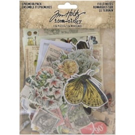 Tim Holtz Idea-Ology Ephemera Pack Field Notes