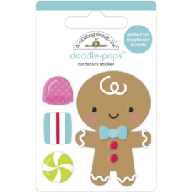Doodlebug Doodle-Pops 3D Stickers Goody Goody