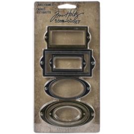 Tim Holtz Idea-Ology Metal Adornments 6/Pkg Label Frames
