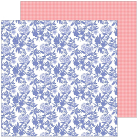 """PinkFresh Happy Blooms Double-Sided Cardstock 12""""X12"""" Daydream"""