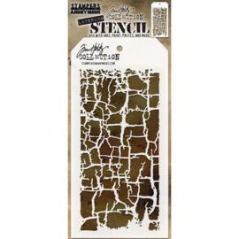 """Tim Holtz Layered Stencil 4.125""""X8.5"""" Decayed"""