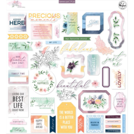 Pinkfresh Cardstock Die-Cuts Just A Little Lovely, 47/Pkg