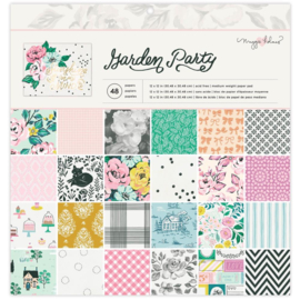 """American Crafts Single-Sided Paper Pad 12""""X12"""" 48/Pkg Maggie Holmes Garden Party PREORDER"""