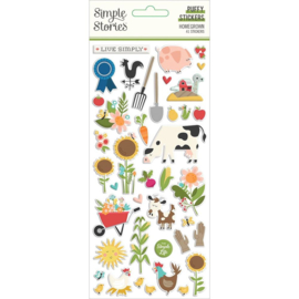 Simple Stories Homegrown Puffy Stickers 41/Pkg preorder
