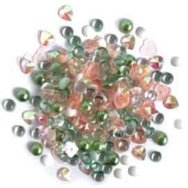 Buttons Galore Sparkletz Embellishment Pack 10g Cactus