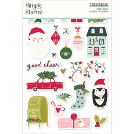 Simple Stories Sticker Book 12/Sheets Holly Days, 645/Pkg