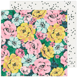 """Maggie Holmes Garden Party Double-Sided Cardstock 12""""X12"""" Freshly Picked"""