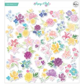 PinkFresh Floral Cardstock Die-Cuts Keeping It Real