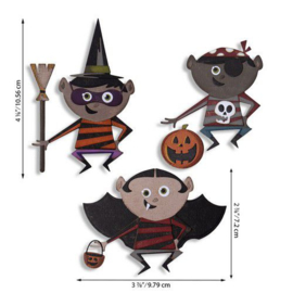 Sizzix Thinlits Die Set - Trick or Treater 18PK 664751 Tim Holtz