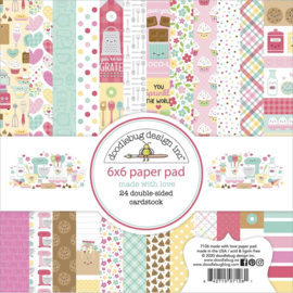 "Doodlebug Double-Sided Paper Pad 6""X6"" 24/Pkg Made With Love, 12 Designs/2 Each"