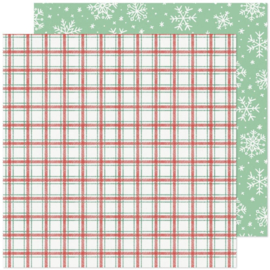 """Crate Paper Busy Sidewalks Double-Sided Cardstock 12""""X12"""" Snow Day"""