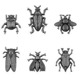 Tim Holtz Idea-Ology Metal Adornments 5/Pkg Entomology
