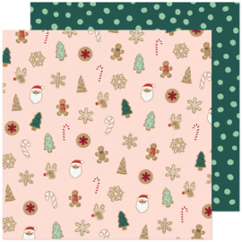 """Crate Paper Busy Sidewalks Double-Sided Cardstock 12""""X12"""" Christmas Cookies"""